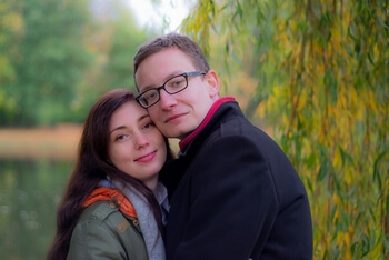 Jesienna sesja zakochanych Łódź