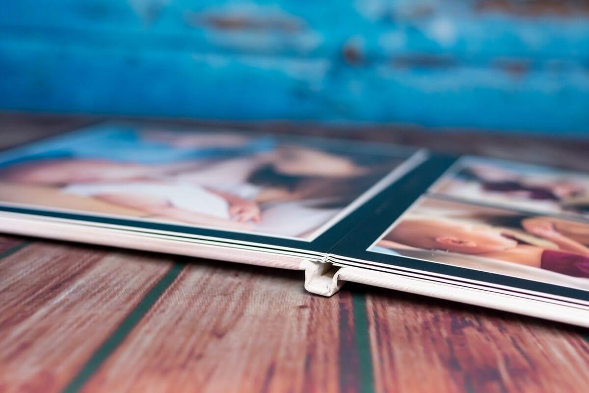 fotoalbum łódź rozkładany na płasko sztywne karty