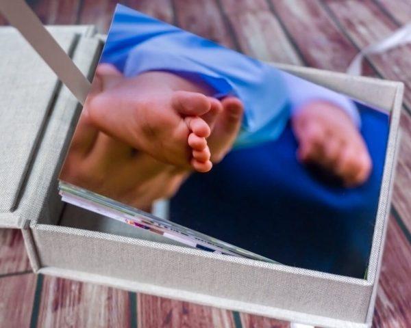 pamiątka chrztu świętego łódź pudełko na zdjęcia 01